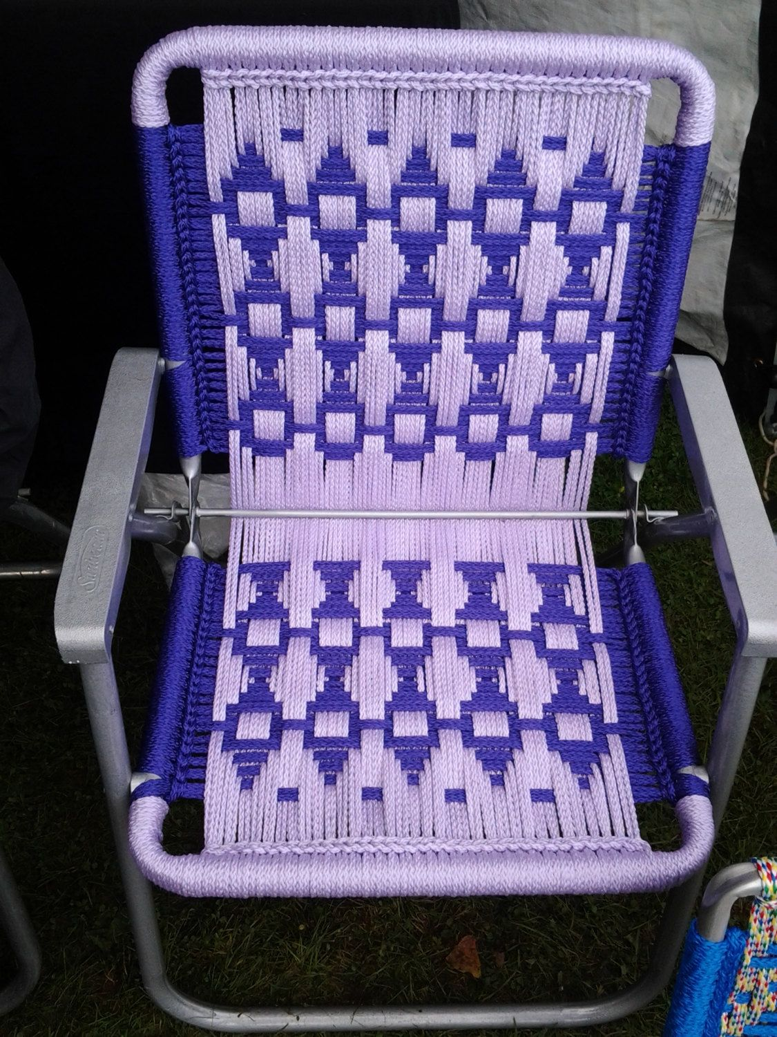Macrame Lawn Chair By Chairsandpens On Etsy Macrame