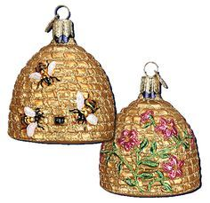 Take A Look At Our Bee Skep Or Hive Ornament Old World Christmas As Well Other Birds Bugs Insects Available For Sale Here Trendy Ornaments