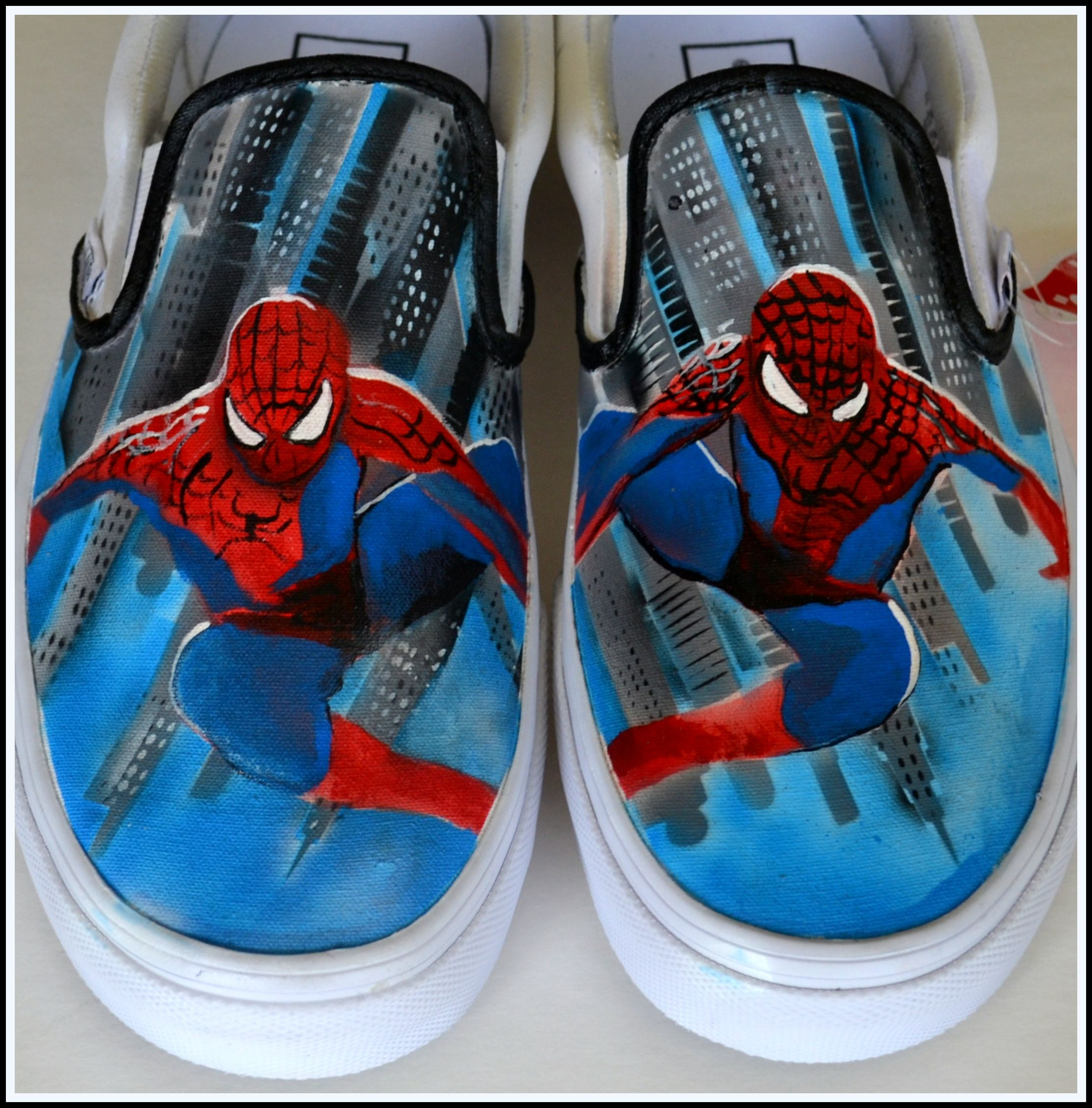 Painted spiderman shoes painted conversepainted generic custom custom mens shoes painted spiderman shoes superhero by pricklypaw geenschuldenfo Images