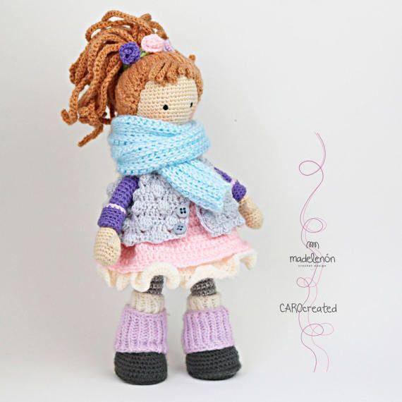 Crochet pattern for doll MIA & deer LAYLA (Deutsch, English, Español ...
