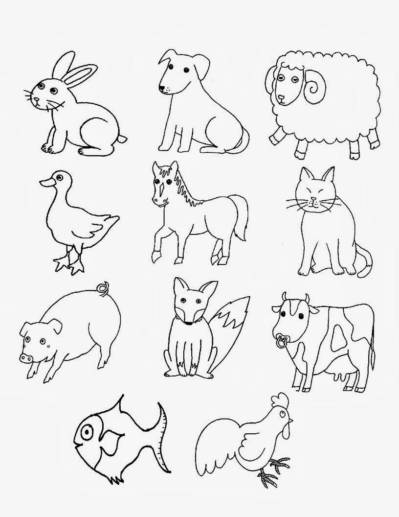 Resultado De Imagem Para Desenhos Animais Domesticos E De Fazenda