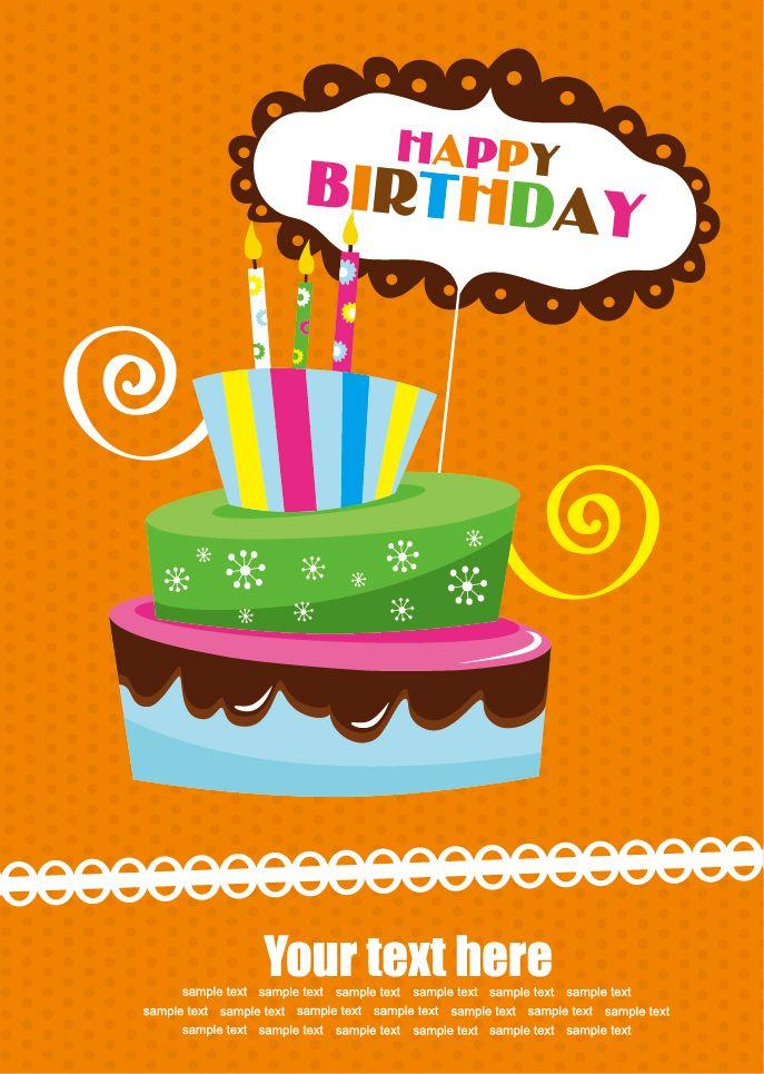 ポップでかわいいバースデー用メッセージカードです 今回はカラフルデザインのテンプレートでまとめて見ました Free Vector About Cute Cartoon Happy Birthday C 誕生日のアイデア 誕生日グリーティングカード ハッピーバースデー イラスト