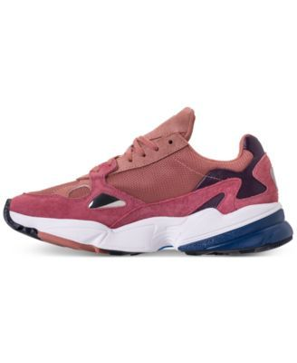 reputable site c3b62 b62d5 adidas Womens Originals Falcon Suede Casual Sneakers from Finish Line -  Pink 9