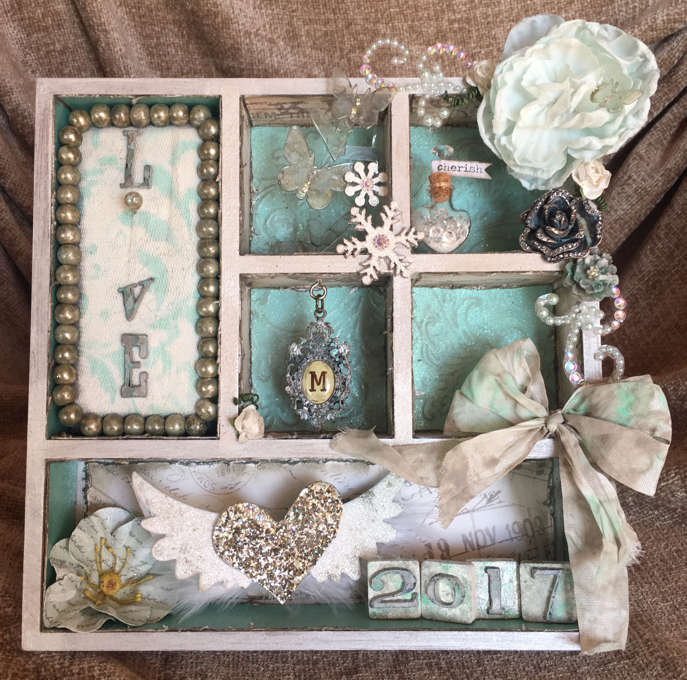 Shabby Altered wedding ring holder. Entering Frilly and Funky challenge on http://frillyandfunkie.blogspot.co.za/2017/06/with-this-ring.html