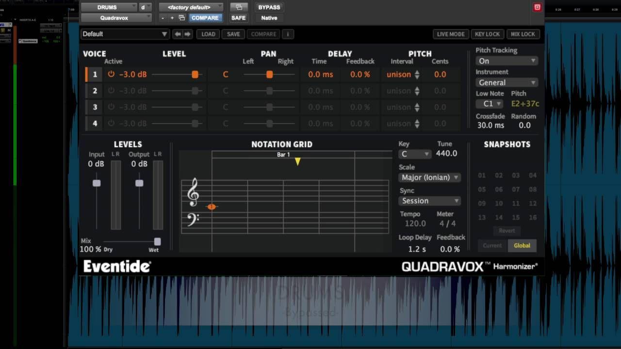 Quadravox Plugin Presets Demo Vocals, Synth, Drums, Sax