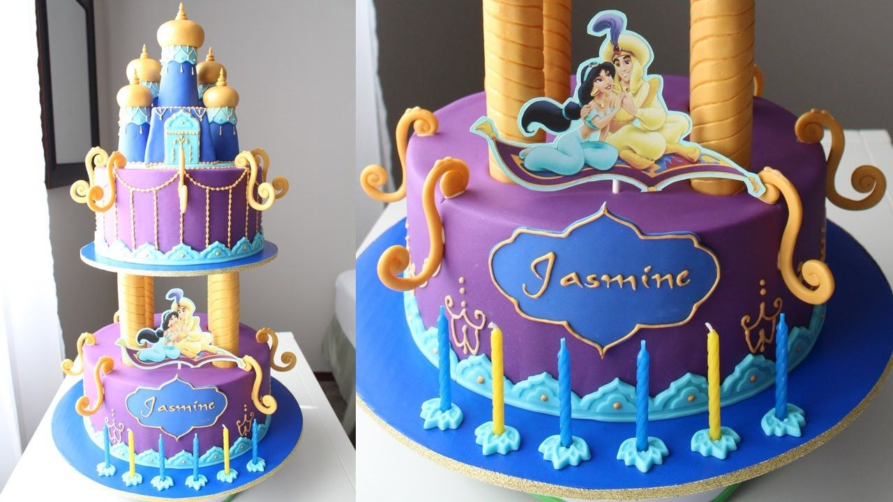 Aladdin And Jasmine Cake Tutorial