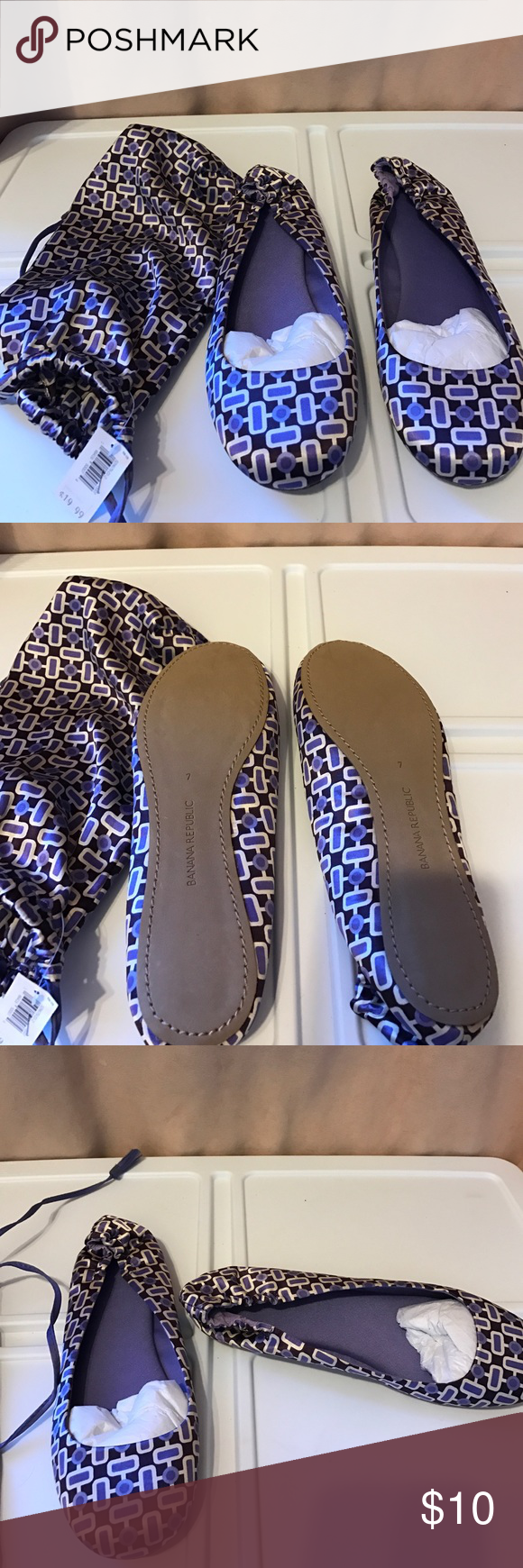 3b152fa1ff9 Slippers Banana Republic silk slippers with sack. NWT sz 7 Banana Republic  Shoes Slippers