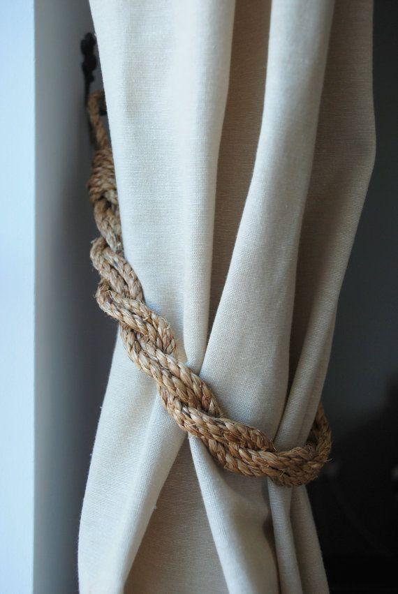 Rustic Manila Rope Curtain Tiebacks Shabby By Andreacookinteriors More