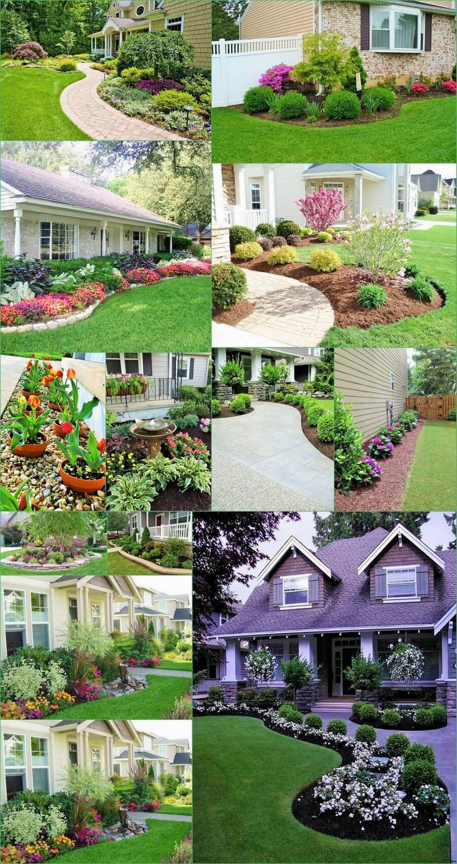 New home garden ideas  Beautiful Home Gardening Ideas For The Front And The Backyard