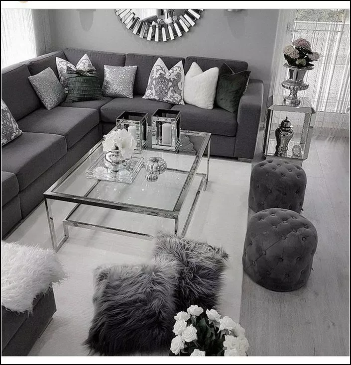 127 Excellent Living Room Ideas With Lighting Page 12 Myyhomedecor Com Silver Living Room Living Room Decor Gray Living Room Grey