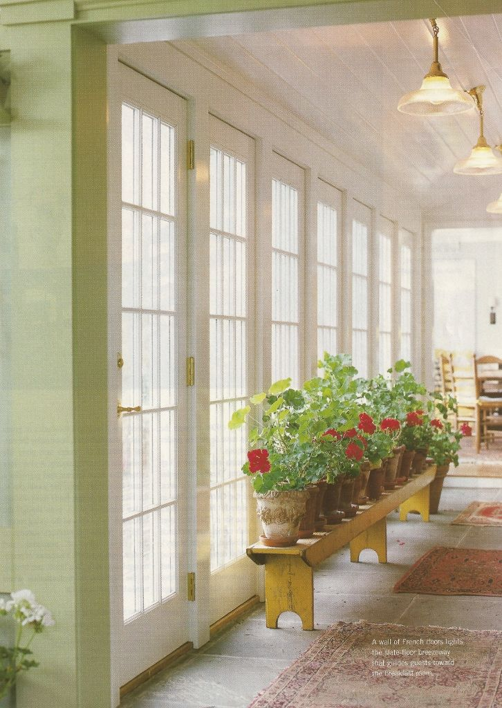 Wall Of French Doors The Summers Are Nice And Fairly Bug Free In