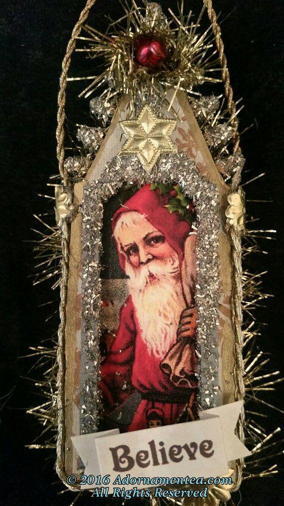 Victorian Christmas ornament. Santa Christmas by Adornamentea ...