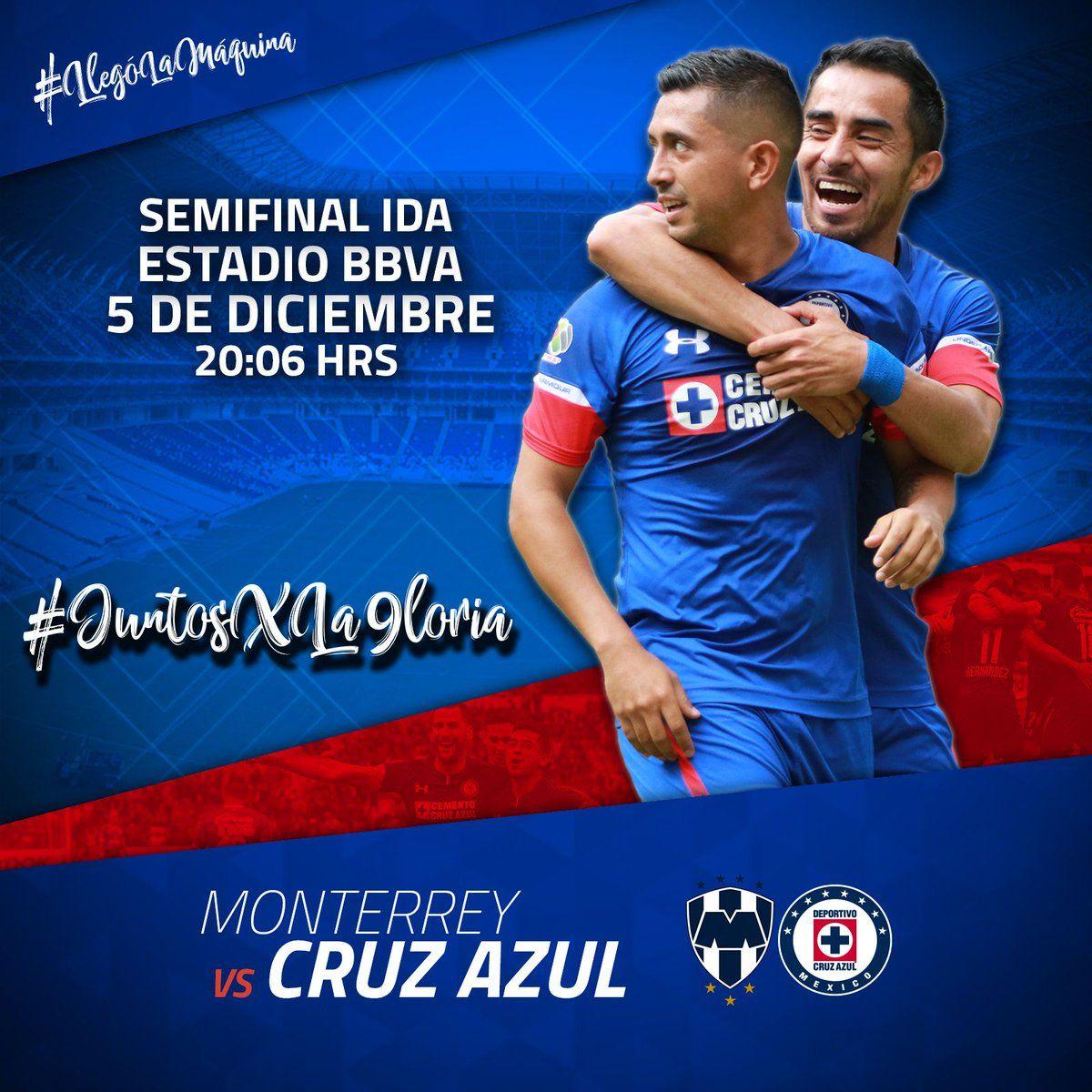 Semifinal Rayados vs Cruz Azul en Vivo 2018 Liga MX Cruz
