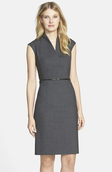 Interview dress cut ideas: BOSS 'Difena' Belted Sheath Dress available at #Nordstrom