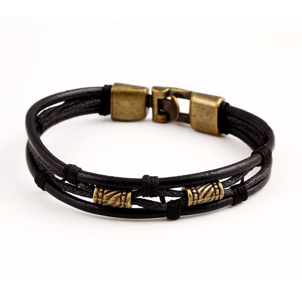 Genuine leather genuine women man bracelets unisex casualsporty