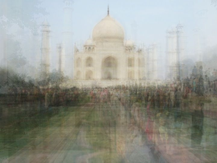 Switzerland-based Corinne Vionnet shows us some of our most famous landmarks in a brand new way. Though her images look like watercolor paintings, they're actually made of hundreds of tourist photos layered into one. The haunting images are meant to make us think about fading memories and the inevitable passage of time.