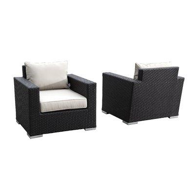 Wrought Studio Aramingo Club Chair With Cushion Set Of 2 Fabric