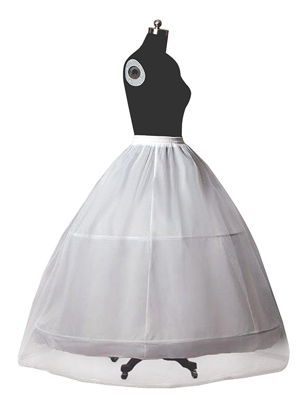Aline full tier bone hoop floorlength dress slip petticoat
