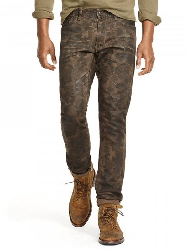 Polo Ralph Lauren Men's Green Sullivan Slim-fit Camo Jean