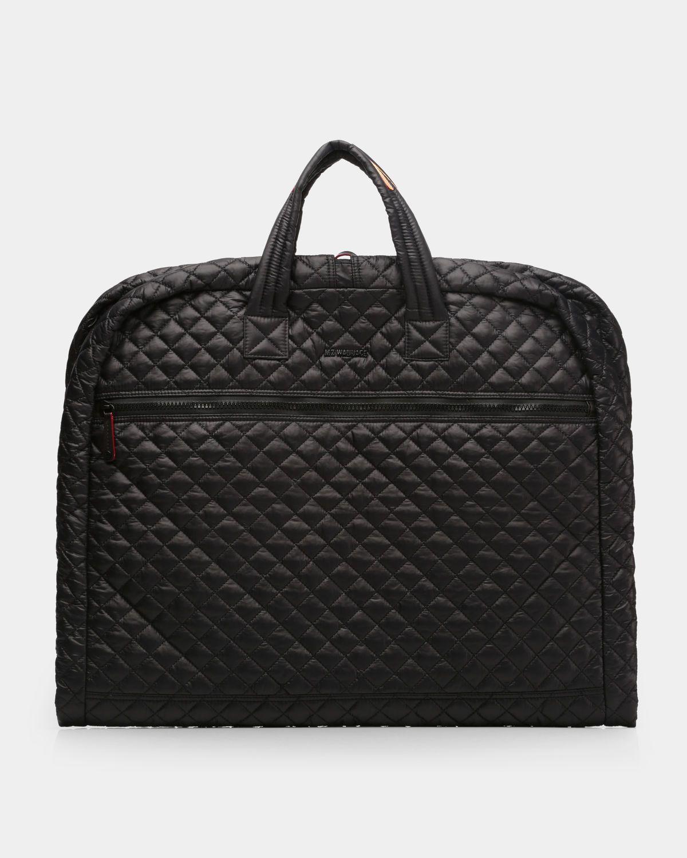 Leather Garment Bag Color Black