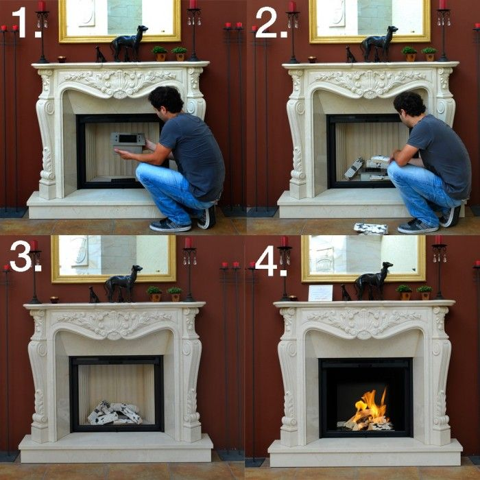 How to change a traditional fireplace into a bio ethanol for Bruleur ethanol pour cheminee