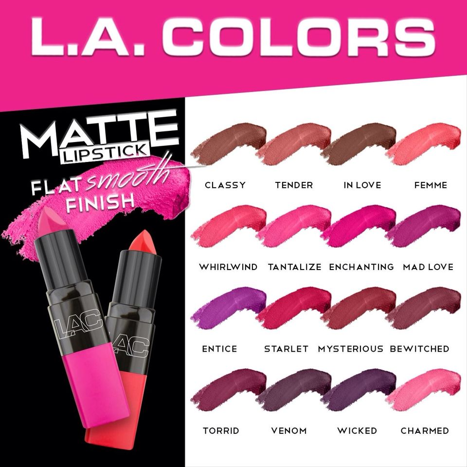 New LA Colors Matte Lipsticks available at Dollar General