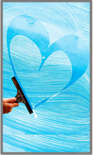 LOVE YOUR SQUEEGEE? Use one every day to keep your shower glass squeeky clean.