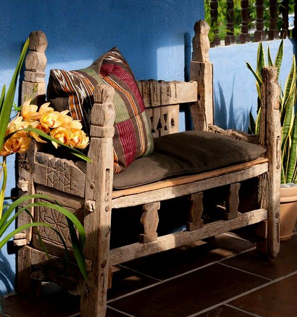 Outdoor Mexican Bench Mexican Home Decor Rustic House Rustic