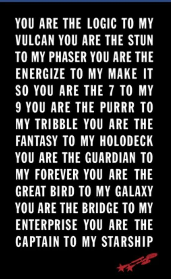 Star Trek Quote Tee You Are The Energize To My Make It So Purr Tribble Bridge Enterprise