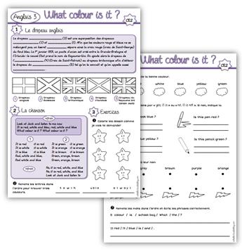 Anglais CE2 : What colour is it ? | Anglais ce2, Apprendre ...