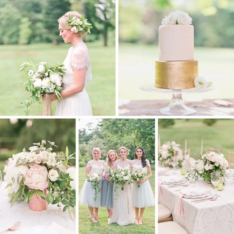 Pretty Spring Wedding Ideas In Soft Pastels And Rose Gold