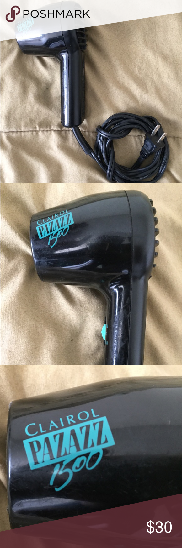 Clairol Pazazz 1500 Hand Hair Blow Dryer Compact 100