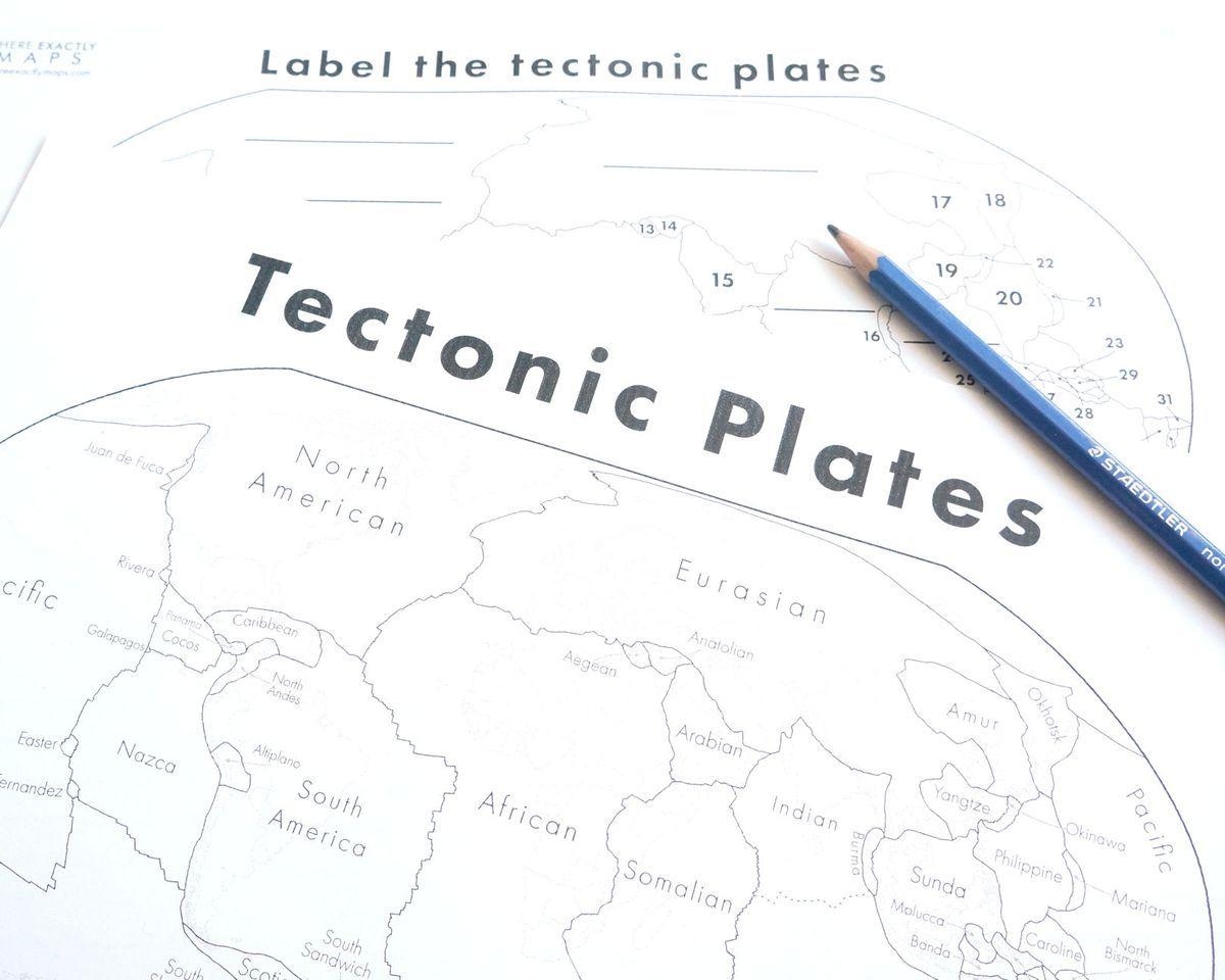 Tectonic Plates Map Worksheet Where Exactly Maps Tectonic Plates Map Plate Tectonics Map Worksheets [ 960 x 1200 Pixel ]