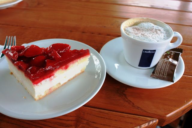 Deutsches Eck in Koblenz - a great place for a cup of cappuccino and a piece of strawberry cake, isn't it?