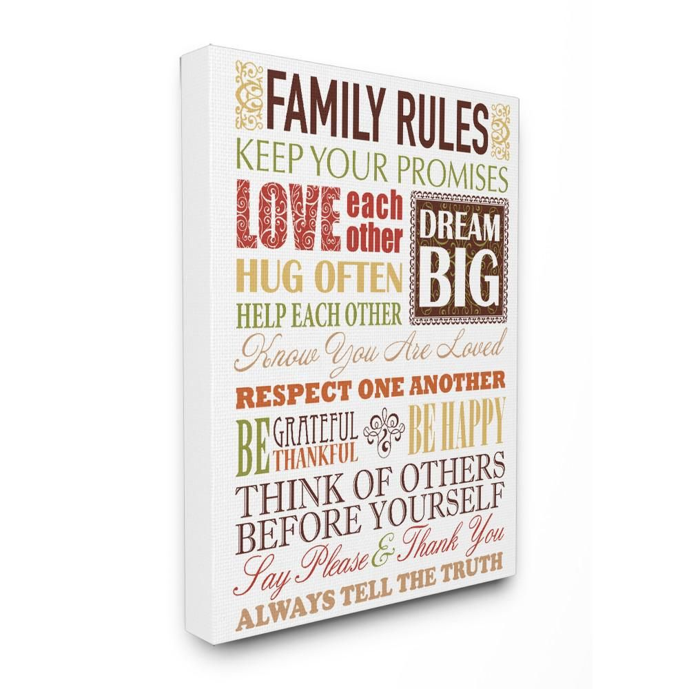 Family rules autumn colors by irina urteaga printed canvas wall art mwp 123 cn 16x20 the home depot