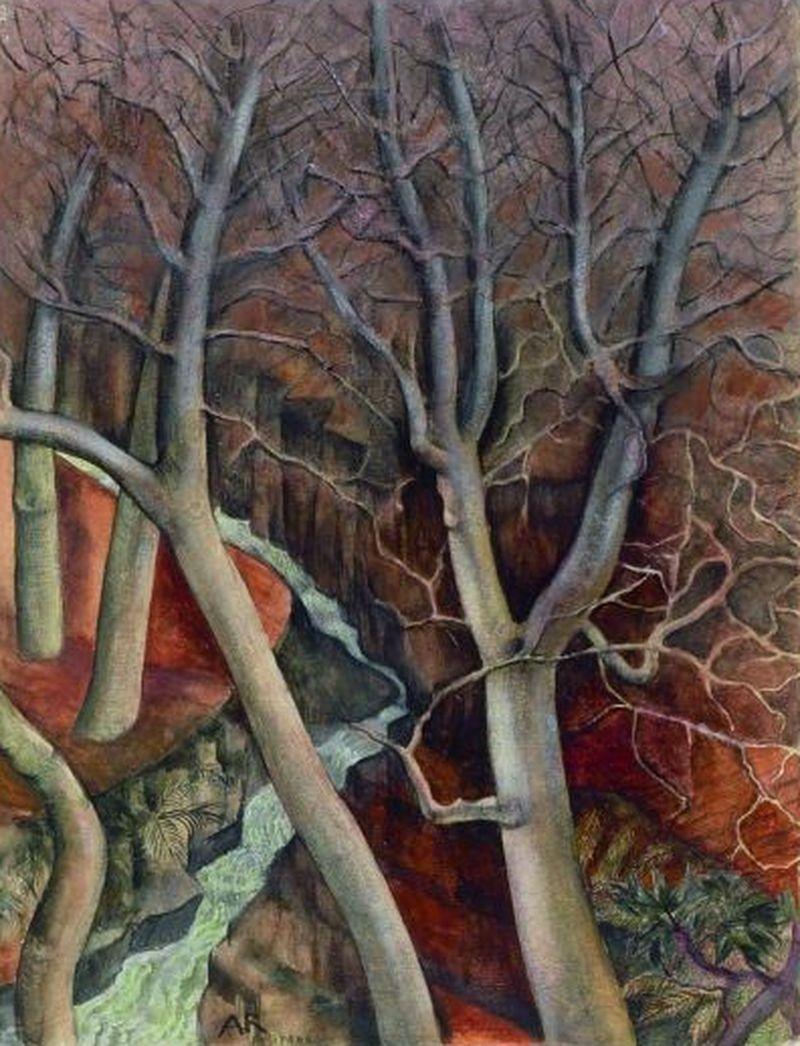 Anita Reé(German, 1885-1933)- Walnut trees in Positano (Nussbäume in Positano), N/D Galerie Herold, Hamburg, Germany