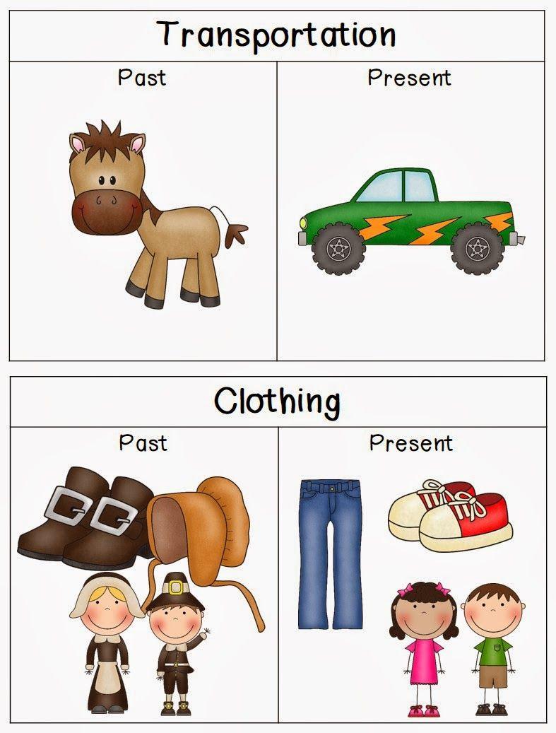 Past Vs Present Freebie School Stuff Preschool Social