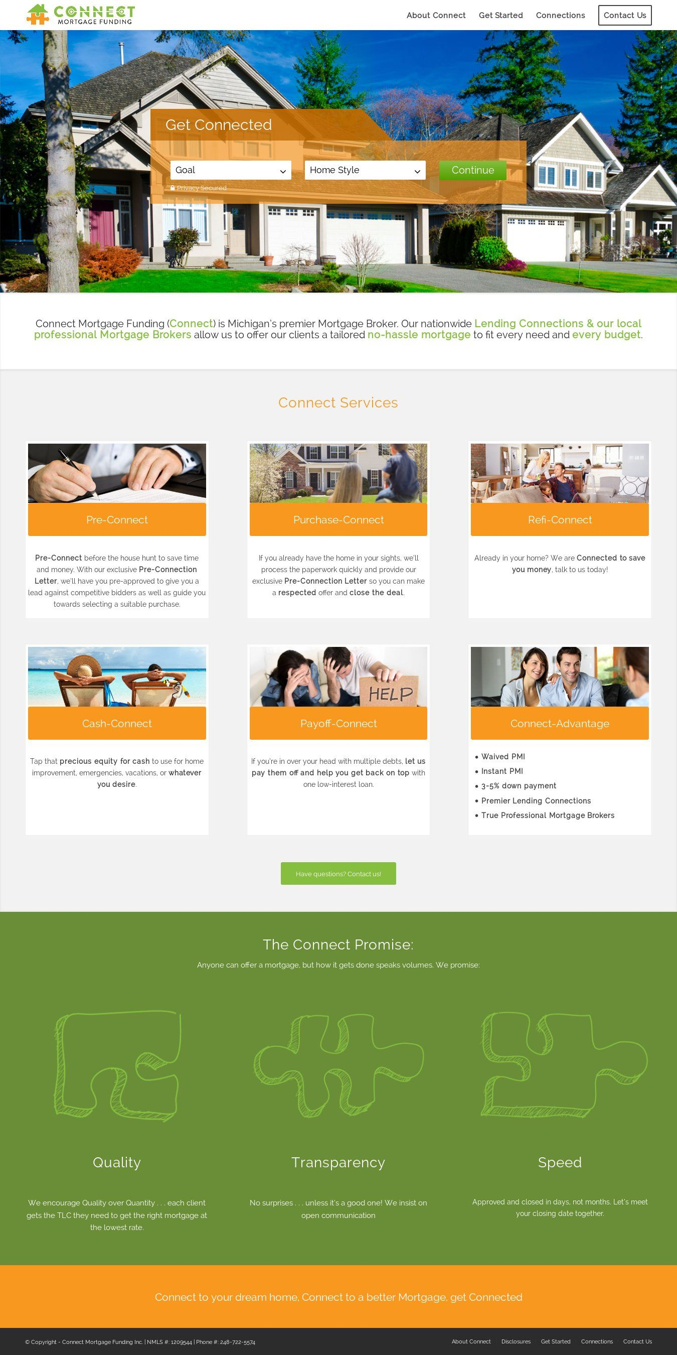 WordPress site connectloans.com uses the Wordpress template Enfold ...