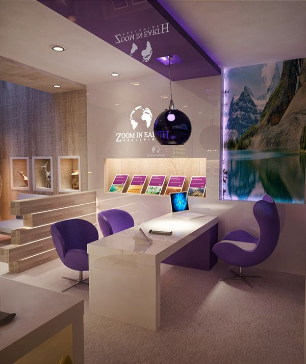 Conceptual Design Travel Agency On Behance Office Interior