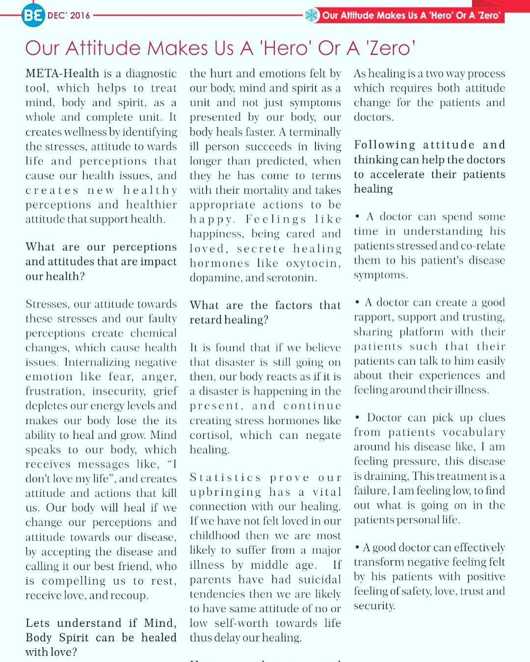 article on attitude
