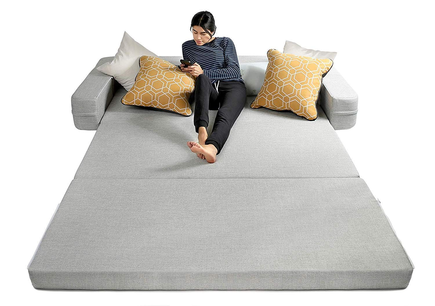 No Space No Problem Here Are 19 Sleep Solutions For Your Guests With Images Air Mattress Guest Room Beds For Small Spaces