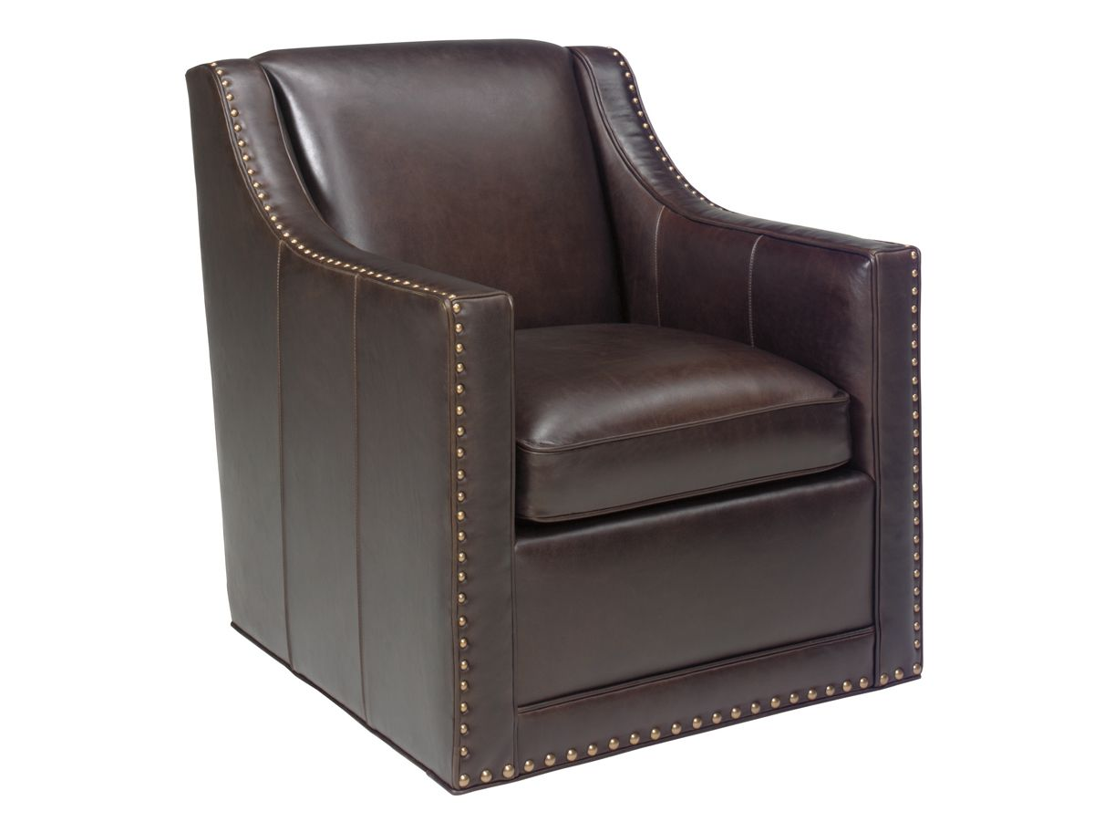 Leather Swivel Chairs For Living Room Lexington Leather Barrier Leather Swivel Chair Lexington Home