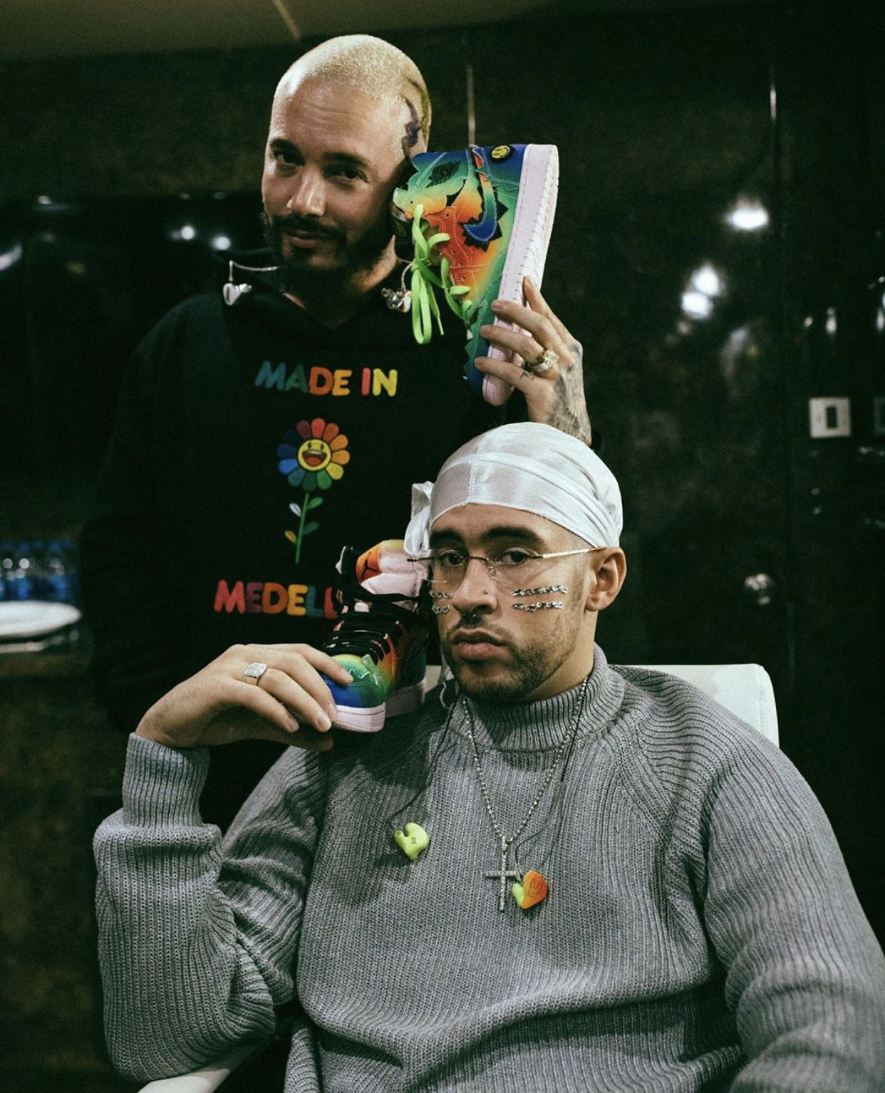 J Balvin and Bad Bunny in 2020 Bunny outfit, Bunny
