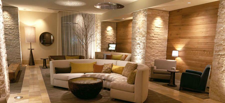 Luxury modern lobby hotel interior design of hotel vitale for Hotel decor for home