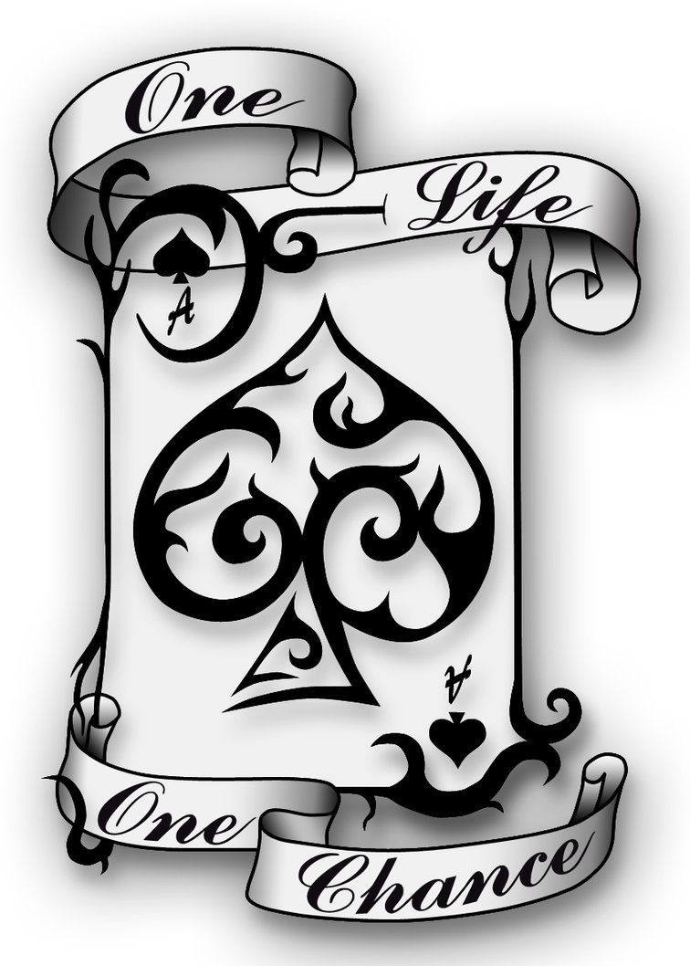 Ace Of Spade Drawing