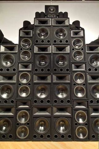 Stacked Speakers Preferably For Show Mixed Sizes Colours Broken Even Speaker Drawing Wall Of Sound Speaker Box Design