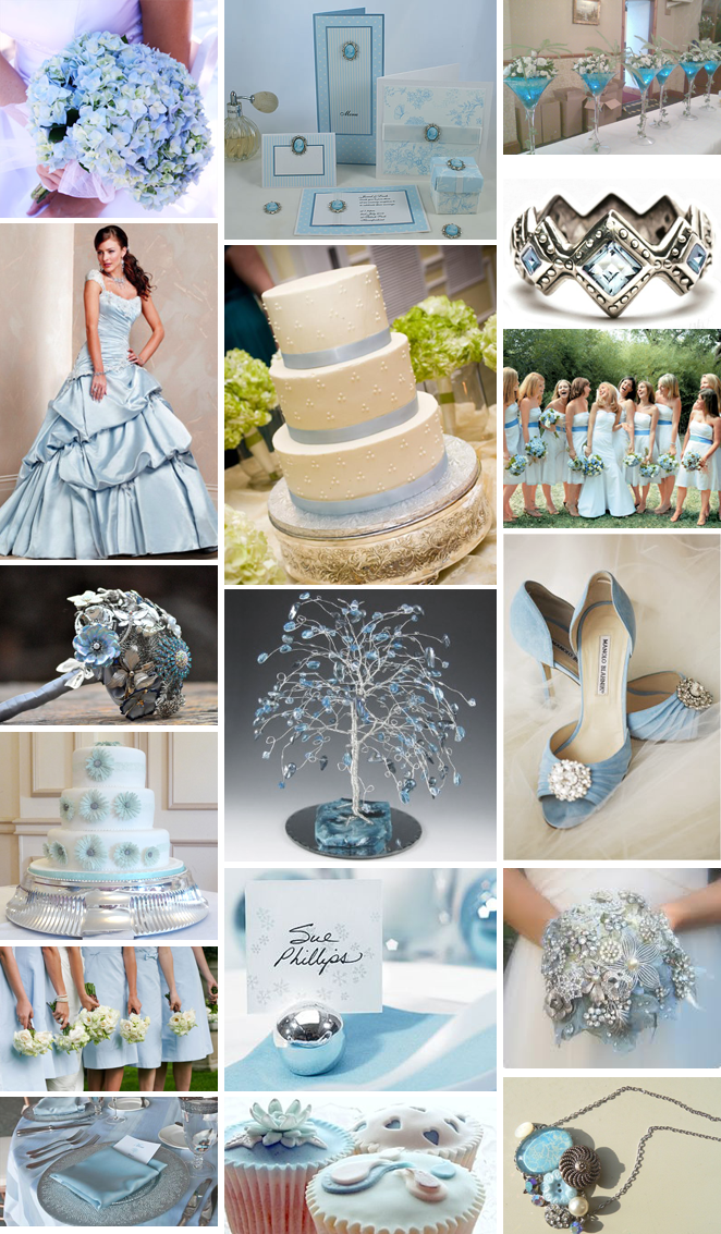 Baby Blue And Silver Wedding Theme
