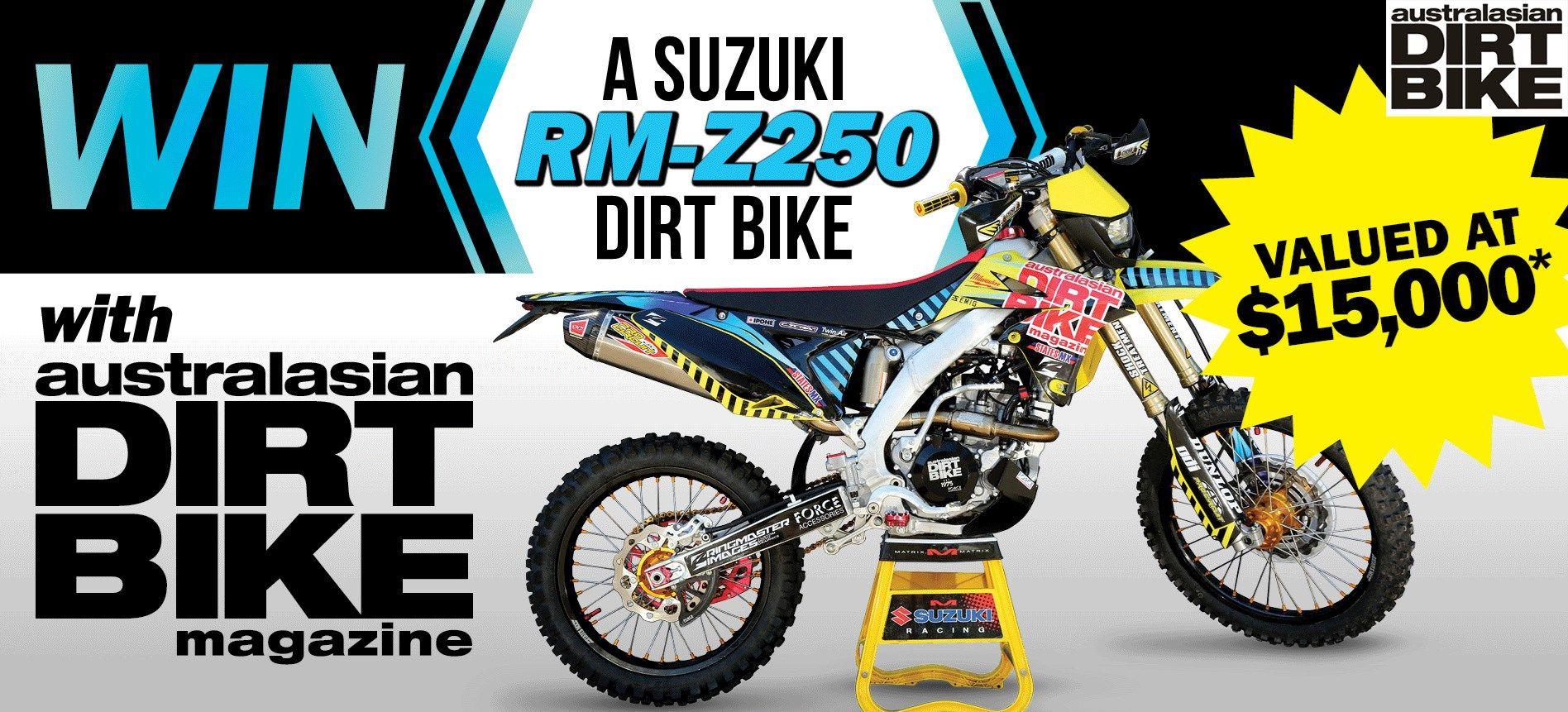 Win A Suzuki Rm Z250 Dirt Bike Competitions Pinterest Dirt