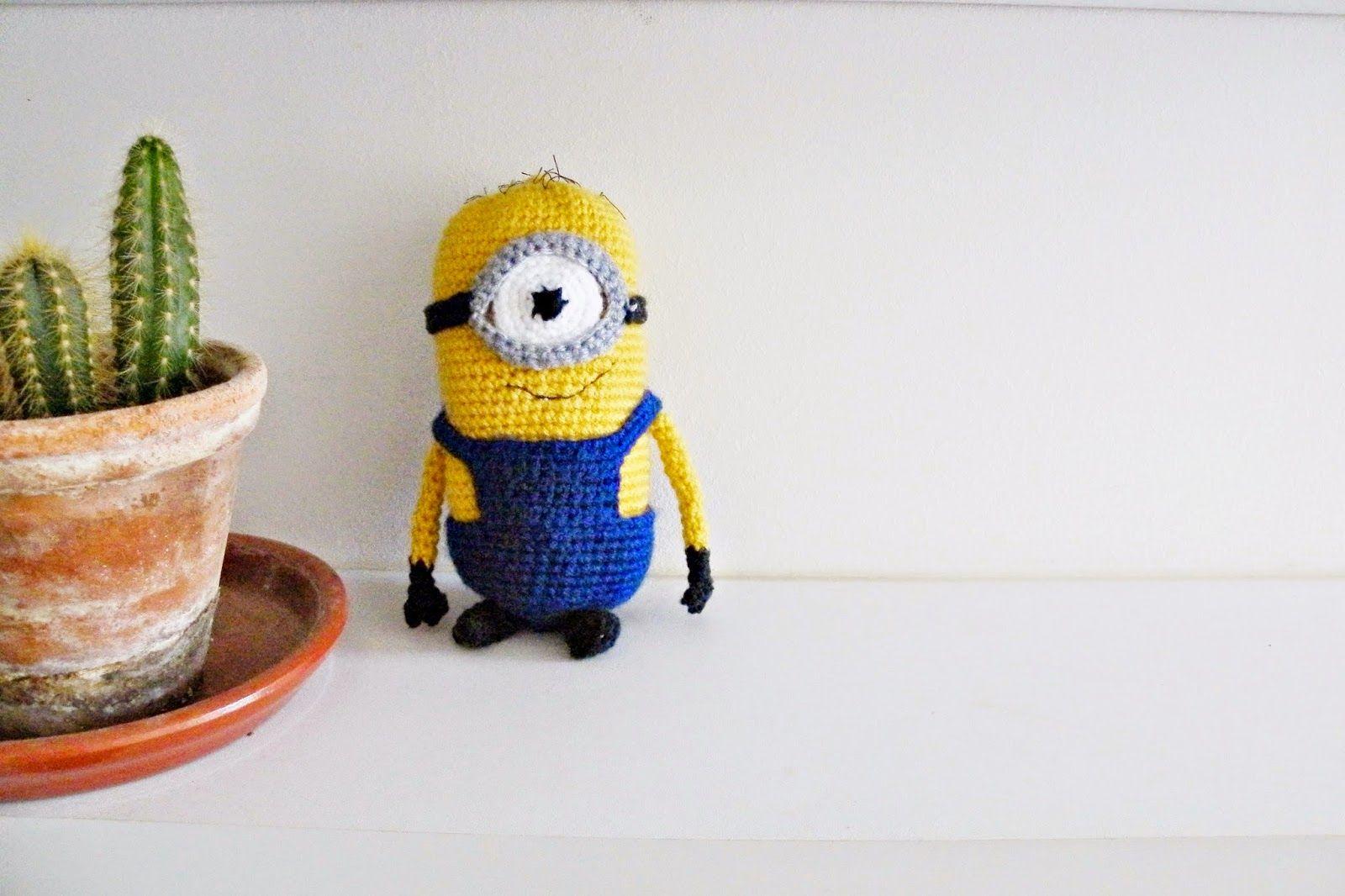 Minion au crochet. Patron gratuit sur le blog : laviesimpledemimi ...