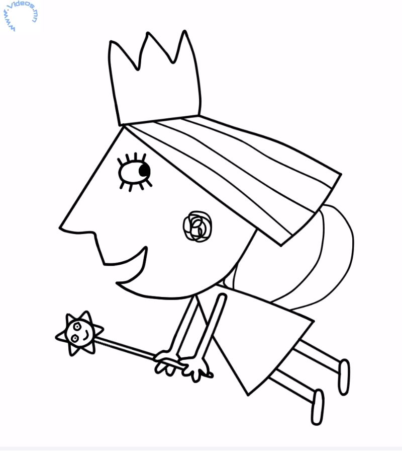 Printable Ben And Holly Little Kingdom Coloring Page Ben And
